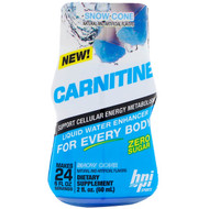 3 PACK OF BPI Sports, Carnitine, Liquid Water Enhancer, Snow Cone, 2 fl oz (60 ml)