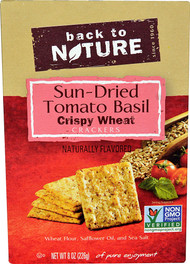 5 PACK of Back To Nature Crispy Wheat Crackers  Sun-Dried Tomato Basil - 8 oz