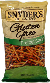5 PACK of Snyders Of Hanover Gluten Free Pretzel Sticks - 8 oz