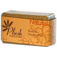 Plush Naturals, Natural, Brazilian Passion Fruit, Bar Soap, 7 oz (200 g)(5 PACK)