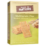 3 PACK of Back To Nature Seeded Flatbread Crackers Multigrain Flax -- 5.5 oz