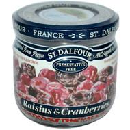 3 PACK of St. Dalfour, Raisins & Cranberries, 7 oz (200 g)