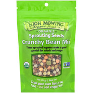 3 PACK OF High Mowing Organic Seeds, Crunchy Bean Mix, 4 oz (113 g)