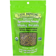 3 PACK OF High Mowing Organic Seeds, Mung Beans, Sprouting Seeds, 4 oz (113 g)