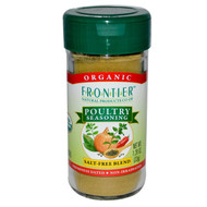 3 PACK of Frontier Co-Op Organic Poultry Seasoning with Sage, Thyme & Onion -- 1.2 oz