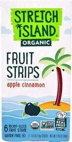 5 PACK of Stretch Island Organic Fruit Strips  Apple Cinnamon - 6 Pocket-Sized Fruit Strips
