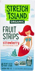 5 PACK of Stretch Island Organic Fruit Strips  Strawberry - 6 Pocket-Sized Fruit Strips