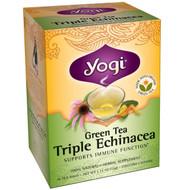Yogi Tea, Green Tea Triple Echinacea, 16 Tea Bags, 1.12 oz (32 g) (5 PACK)