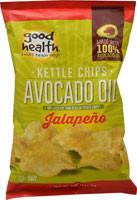 Good Health Inc. Avocado Oil Kettle Chips Jalapeno - 5 oz (5 PACK)