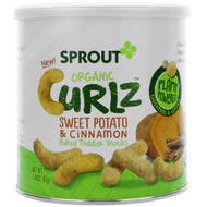 3 PACK OF Sprout Organic, Curlz, Sweet Potato & Cinnamon, 1.48 oz (42 g)