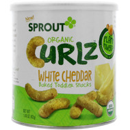 3 PACK OF Sprout Organic, Curlz, White Cheddar, 1.48 oz (42 g)