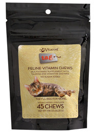 Vitaco, - Tag Feline Vitamin Chews,  Chicken Liver Flavor - 45 Chewables -5 PACK