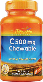 Thompson Vitamin C - 500 mg - 60 Chewables