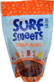 5 PACK of Surf Sweets Organic Gummy Bears Gluten Free Assorted - 6 oz