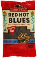 3 PACK of Garden of Eatin' Organic Blue Corn Redhot Tortilla Chips -- 16 oz