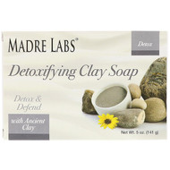 3 PACK OF Madre Labs, Detoxifying Clay, Bar Soap, Eucalyptus & Peppermint, with Ancient Clay, 5 oz (141 g)