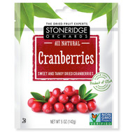 3 PACK of Stoneridge Orchards, Cranberries, Sweet & Tangy Dried Cranberries, 5 oz (142 g)