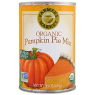 3 PACK of Farmers Market Organic Canned Pumpkin Pie Mix -- 15 oz