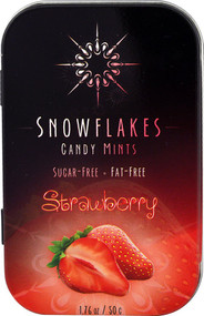5 PACK of Snowflakes Candy Mints Sugar Free Strawberry - 1.76 oz