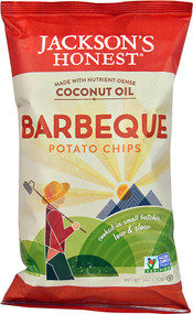5 PACK of Jacksons Honest Coconut Oil Potato Chips  Barbeque - 5 oz