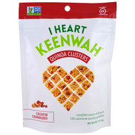 3 PACK OF I Heart Keenwah, Quinoa Clusters, Cashew Cranberry, 4 oz (113.4 g)
