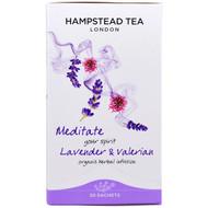 3 PACK OF Hampstead Tea, Lavender & Valerian, Organic Herbal Infusion, 20 Sachets, 0.71 oz (20 g)