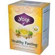 3 PACK of Yogi Tea, Healthy Fasting, Caffeine Free, 16 Tea Bags, 1.12 oz (32 g)
