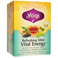3 PACK of Yogi Tea, Vital Energy, Refreshing Mint, 16 Tea Bags, 1.27 oz (36 g)