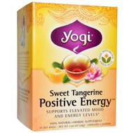 3 PACK of Yogi Tea, Positive Energy, Sweet Tangerine, 16 Tea Bags, 1.02 oz (29 g)