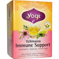 3 PACK OF Yogi Tea, Echinacea Immune Support, Caffeine Free, 16 Tea Bags, .85 oz (24 g)