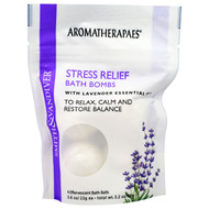 3 PACK of Smith & Vandiver, Stress Relief Bath Bombs with Lavender Essential, 4 Effervescent Bath Balls, 0.8 oz (22 g) Each