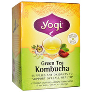 3 PACK of Yogi Tea, Green Tea Kombucha, 16 Tea Bags, 1.12 oz (32 g)