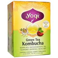 3 PACK of Yogi Tea, Organic, Green Tea Kombucha, 16 Tea Bags, 1.12 oz (32 g)