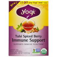 3 PACK of Yogi Tea, Tulsi Spiced Berry Immune Support, 16 Tea Bags, 1.12 oz (32 g)