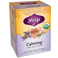 3 PACK of Yogi Tea, Organic, Calming, Caffeine Free, 16 Tea Bags, 1.02 oz (29 g)