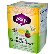 3 PACK of Yogi Tea, Green Tea Kombucha Decaf, 16 Tea Bags, 1.12 oz (32 g)