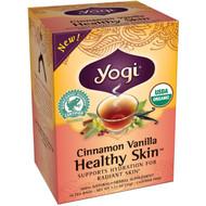 3 PACK of Yogi Healthy Skin Herbal Tea Caffeine Free Cinnamon Vanilla -- 16 Tea Bags