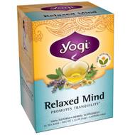3 PACK of Yogi Tea, Organic Relaxed Mind, Caffeine Free, 16 Tea Bags, 1.12 oz (32 g)