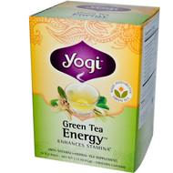 3 PACK of Yogi Tea, Organic, Green Tea Energy, 16 Tea Bags, .92 oz (26 g)