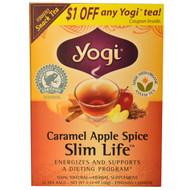 3 PACK OF Yogi Tea, Slim Life, Caramel Apple Spice, 16 Tea Bags, 1.12 oz (32 g)