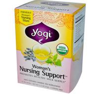 Yogi Tea, Womans Nursing Support, Caffeine Free, 16 Tea Bags, 1.12 oz (32 g)