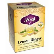 3 PACK of Yogi Tea, Lemon Ginger, Caffeine Free, 16 Tea Bags, 1.27 oz (36 g)