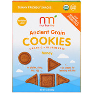 3 PACK OF NurturMe, Organic, Ancient Grain Cookies, Toddlers & Kids, Honey, 4.3 oz (122 g)