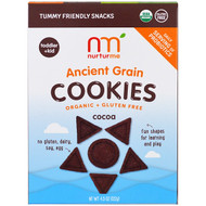 3 PACK OF NurturMe, Organic Ancient Grain Cookies, Toddlers & Kids, Cocoa, 4.3 oz (122 g)