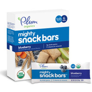 3 PACK of Plum Organics, Tots, Mighty Snack Bars, Blueberry, 6 Bars, 0.67 oz (19 g) Each