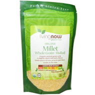 Now Foods, Real Food, Organic Millet Whole, Gluten Free, 16 oz (454 g)