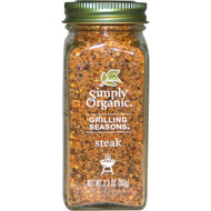 3 PACK of Simply Organic, Grilling Seasons, Steak, Organic, 2.3 oz (65 g)