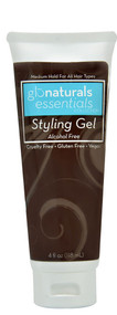 Glonaturals, Essentials Collection Styling Gel - Alcohol Free - 4 fl oz (118 mL) -5 PACK