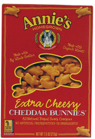 3 PACK of Annies Homegrown Cheddar Bunnies Extra Cheesy -- 7.5 oz