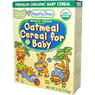 3 PACK of Healthy Times, Organic Cereal for Baby, Oatmeal, 8 oz (227 g)